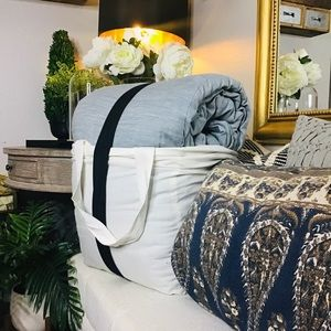 Hearth and hand BLUE TWILL COMFORTER SET KING
